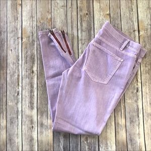 CURRENT/ELLIOTT purple ankle skinny jeans size 31